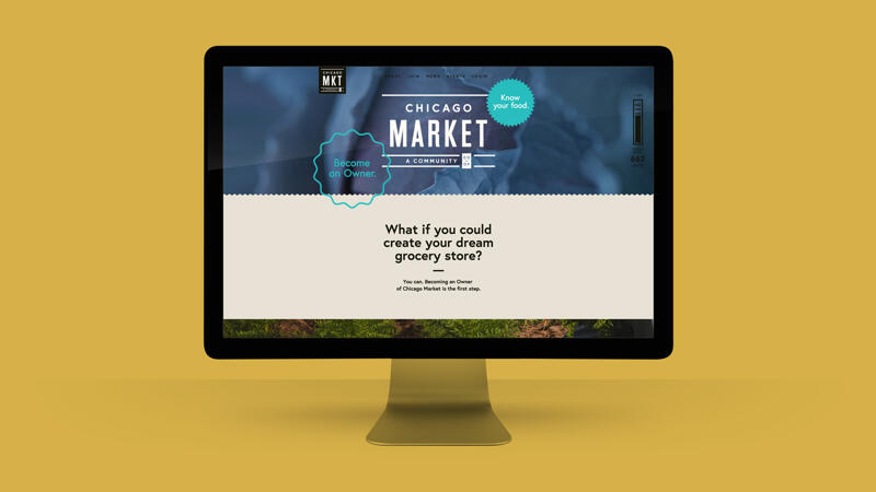 View of Chicago market homepage on computer