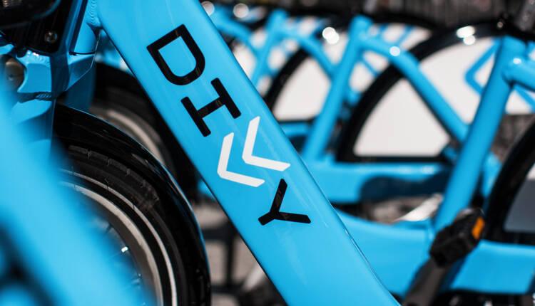 Divvy logo on side of a bike