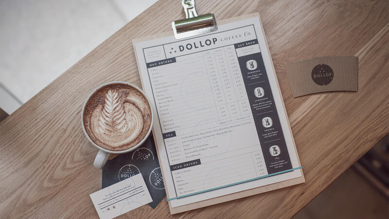 Dollop Branded Print Collateral