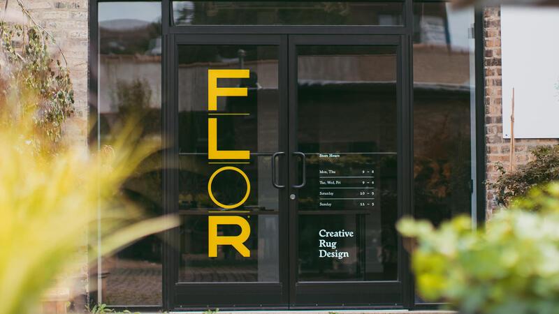FLOR Double Door Permanent Vinyl Signage