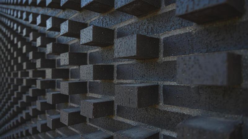 Green Line Brick Facade