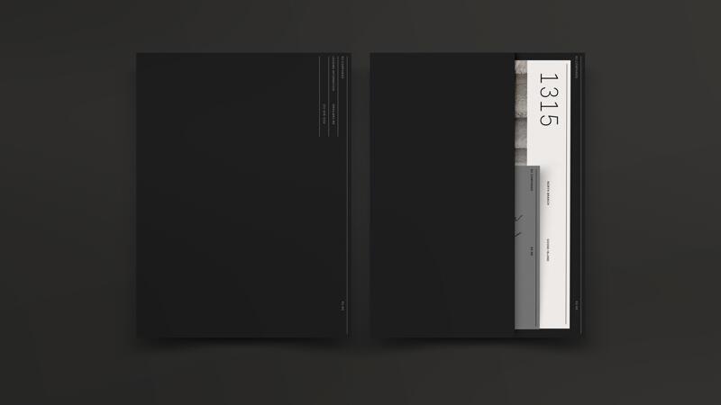 R2 black folder kit front and back with designed sells sheets visible