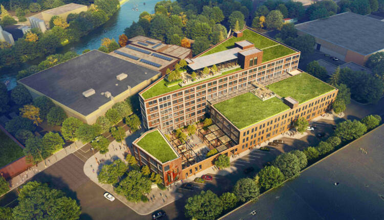 Rendering of an R2 project on Goose Island