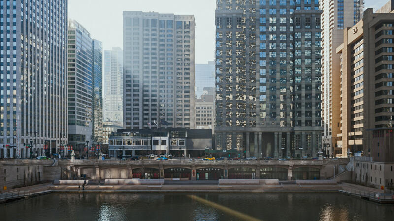high rise buildings along Chicago's riverfront