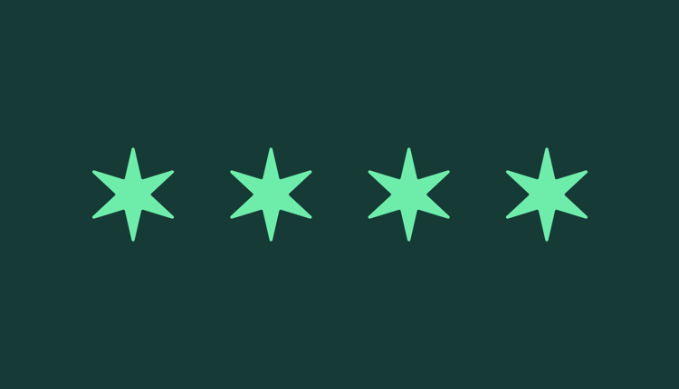 Stars of the Chicago flag light green on dark green