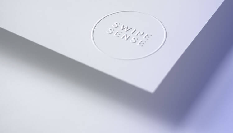 Swipe Sense letterhead partially rolled
