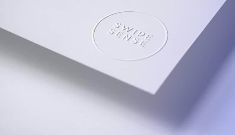 Swipe Sense letterhead partially rolled