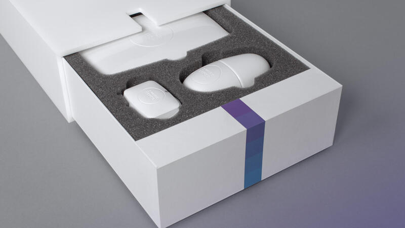 Swipe Sense Product Box Packaging with devices