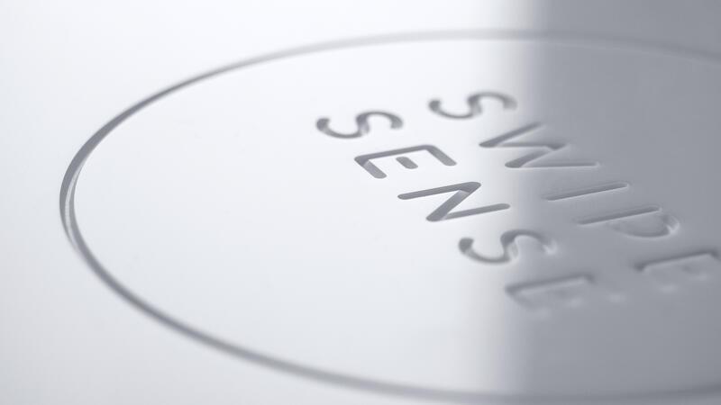 Swipe Sense Engraved Logo Detail