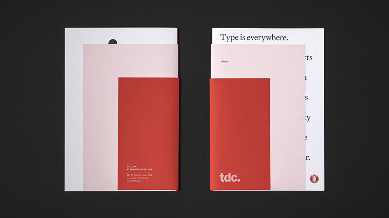 Exterior design detail of the front and back of printed TDC booklet