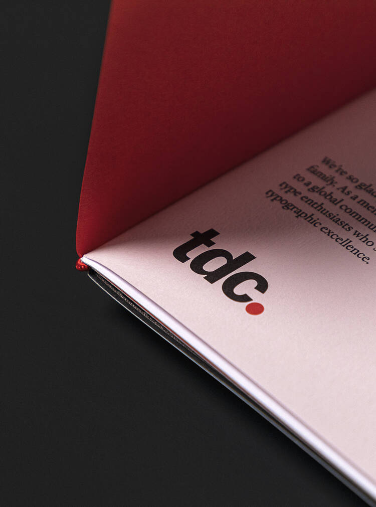 Interior detail of TDC booklet