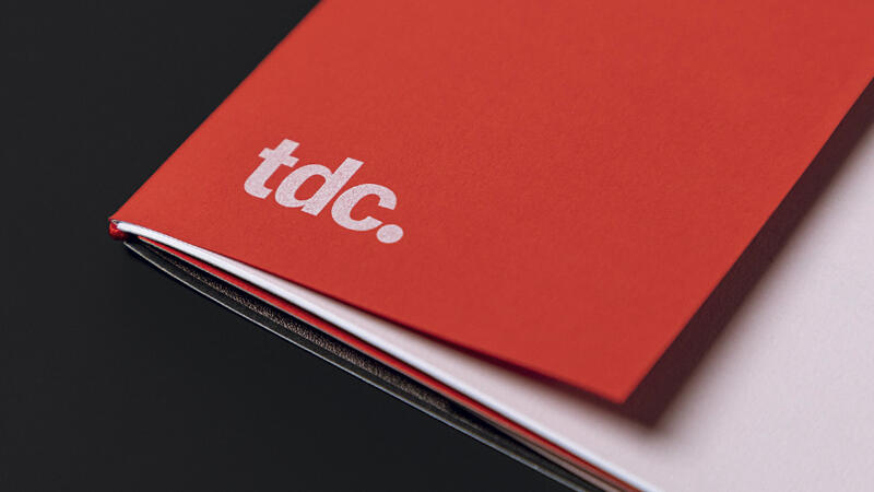 Red short sheet cover of TDC booklet