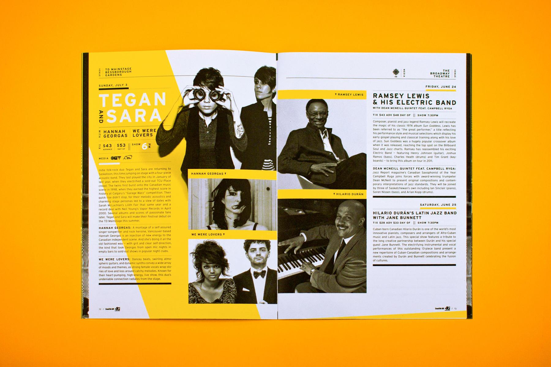 Saskatchewan Jazz Festival 2011 Program Interior